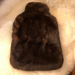 Brown Bear Faux Fur Hot Water Bottle