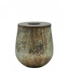 Kinzo Antique Green Tealight Holder12x15cm