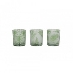 Folhas Tealight Holders-Set 3-7x8cm