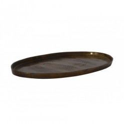 Cabo Bronze Burned Dish 68x33x2cm