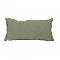 Flange Olive Green Cushion 60x30cm