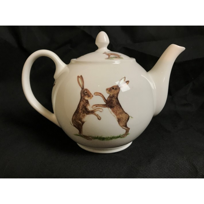 Boxing Hares-4 Person Teapot