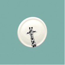 Giraffe China Coaster