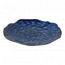 Coutler Blue Ceramic Round Dinner Board Small