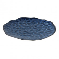 Coutler Blue Ceramic Round Dinner Board Large