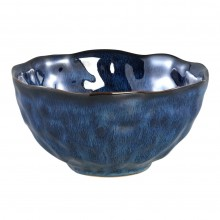 Coutler Blue Ceramic Round Bowl Large
