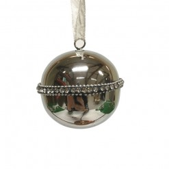 Antique Silver Ball Hanging Decoration with Crystal Inlay