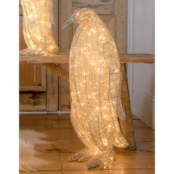 LED Wire Standing Penguin-Large