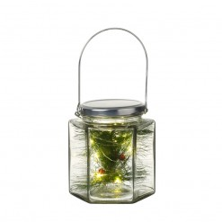 Hexagonal Glass Jar With Lights