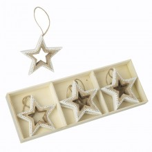 Wooden Hanging Star Decoration with Box