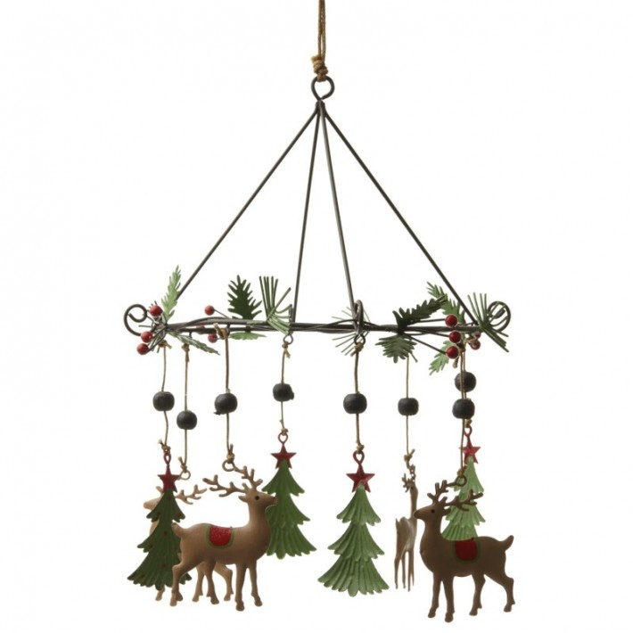 Wind Chime with Trees and Deer