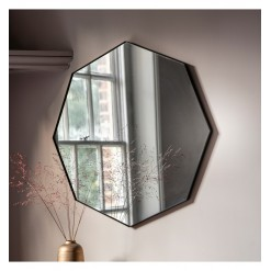Bowie Octagon Mirror-Black