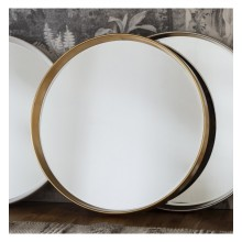 Harvey Round Mirror-Gold