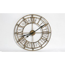 Medium Gold Iron Skeleton Wall Clock