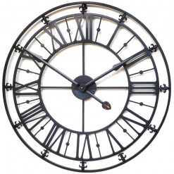 Medium Black Iron Skeleton Wall Clock