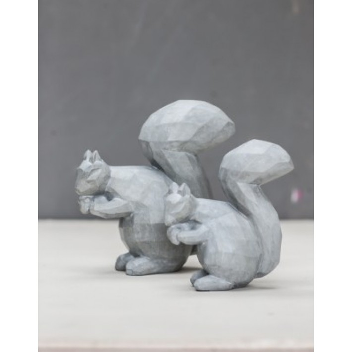 Grey Resin Squirrel Large
