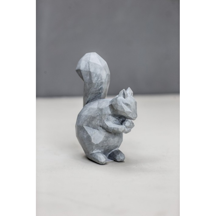 Grey Resin Squirrel Small