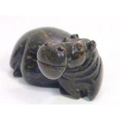 Abstract Soapstone Hippo-Large