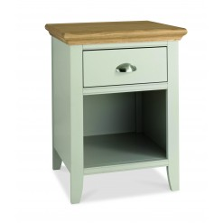 Hampstead Cotton & Oak 1 Drawer Bedside