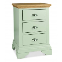 Hampstead Cotton & Oak 3 Drawer Bedside Table