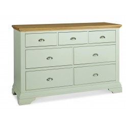 Hampstead Cotton & Oak 3 over 4 Wide Chest