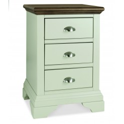 Hampstead Cotton & Walnut 3 Drawer Bedside Table