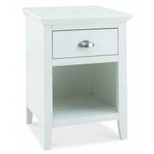 Hampstead White 1 Drawer Bedside