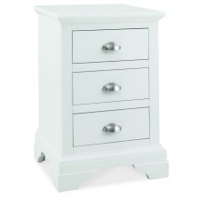 Hampstead White 3 Drawer Bedside Table