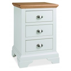 Hampstead Two Tone 3 Drawer Bedside Table