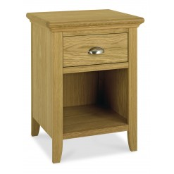 Hampstead Oak 1 Drawer Bedside
