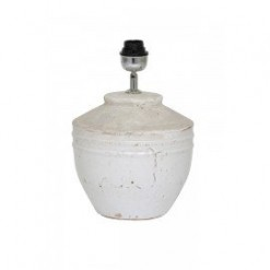 Toba Antique White Lamp Base Only 25x35cm