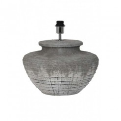 Naruko Keramiek Embossed Large Grey Lamp Base 42x39cm