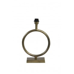 Liva Raw Antique Bronze Lamp Base-Small