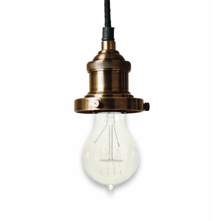 Prohibition Antique Brass Pendant Light