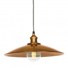 Moderne Large Antique Copper Tapered Shade and Fitment