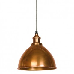 Moderne Antique Copper Domed Shade and Fitment