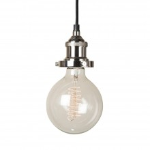 Prohibition Polished Nickel Pendant Light