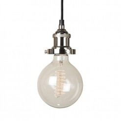 Prohibition Polished Nickel Pendant Light-EX DISPLAY