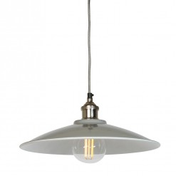 Moderne Large Grey Tapered Shade with Nickel Fitment