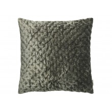 Velvet Embroidered Cushion-Army