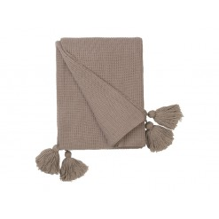 Knitted Tassel Throw-Magnolia