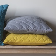 Bricks Quilted Cushion-Chartreuse