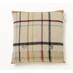 Beige/Multi Windowpane Cushion