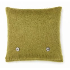 Hazel Green Mohair Cushion