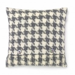 Houndstooth Grey Cushion