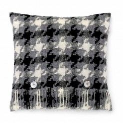Houndstooth Charcoal Cushion
