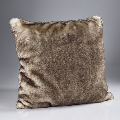 Brown Snow Fox Cushion