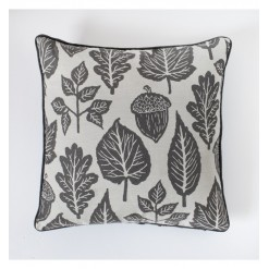 Leaves Tapestry Cushion Grey
