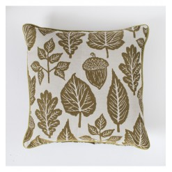 Leaves Tapestry Cushion Ochre