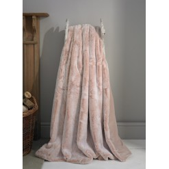 Alaska Pink Faux Fur Throw